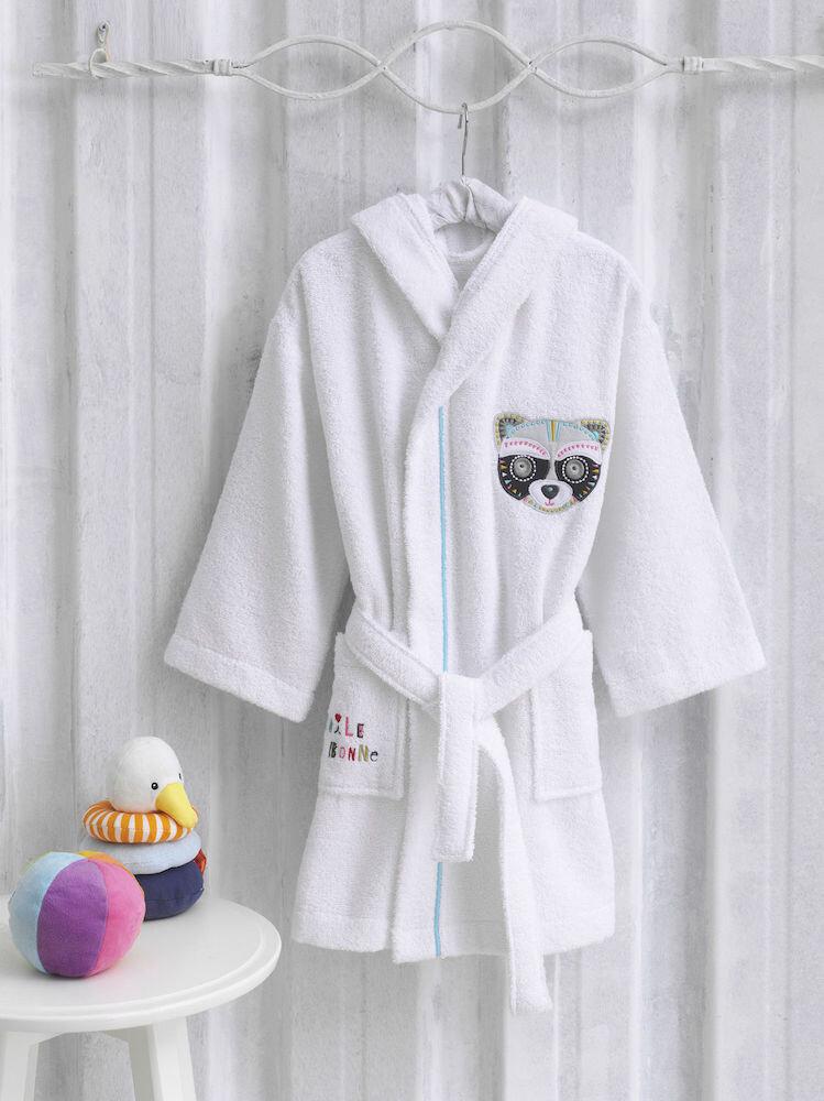 Halat de baie copii, Marie Claire-Raton, alb, 100% bumbac