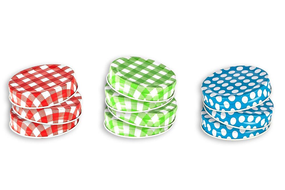 Set 10 capace colorate pentru halba, Heinner, HR-MP4-600FG, metal
