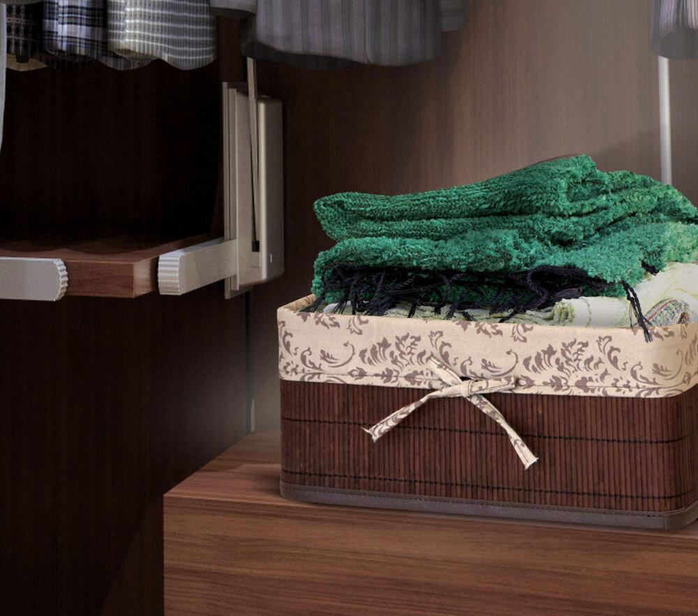 Cos pentru depozitare, pliabil, din bambus, Heinner, HR-CB13C-XL, husa XL