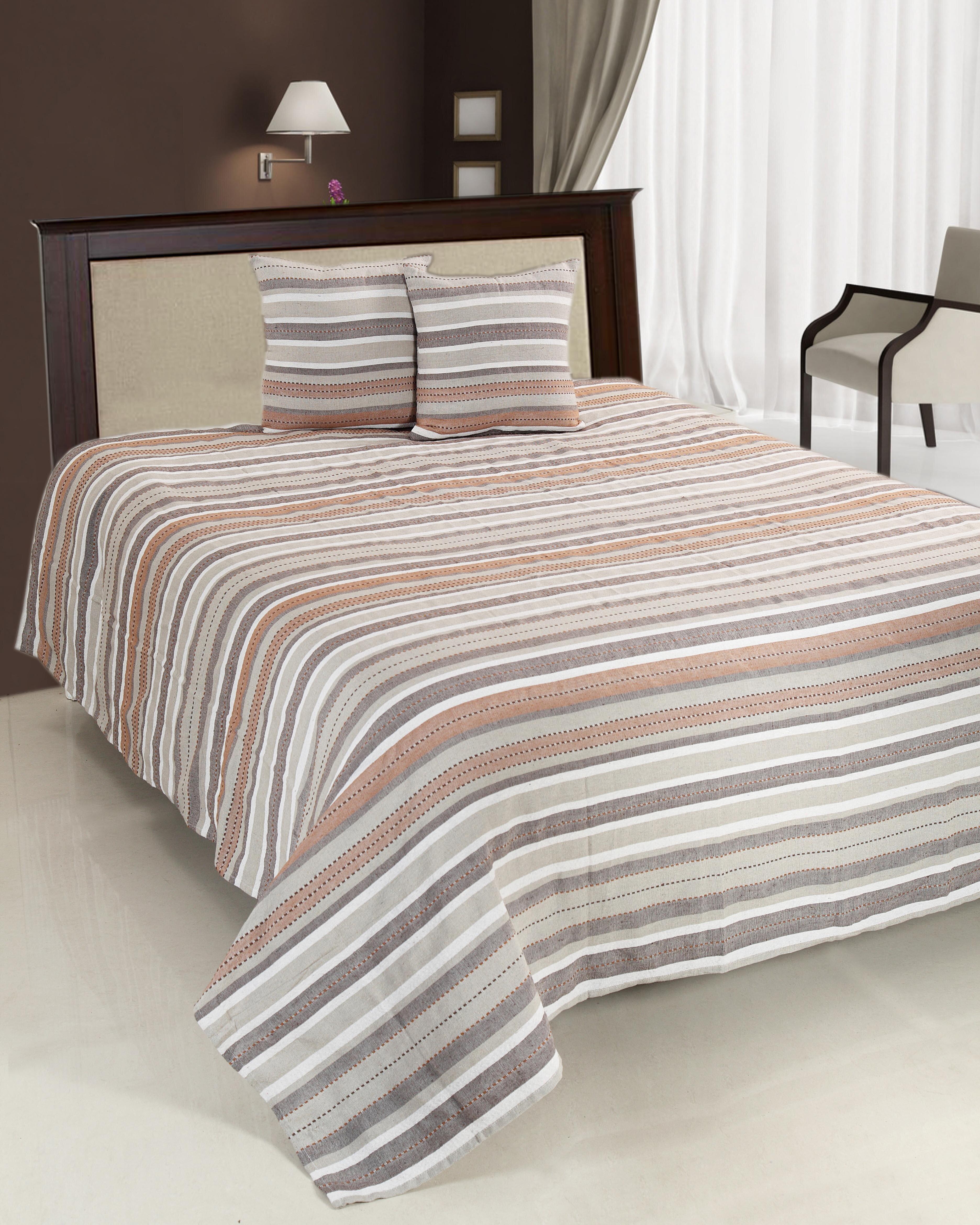 Set cuvertura de pat dublu, Heinner, HR-CUV-220BRW, 200x220