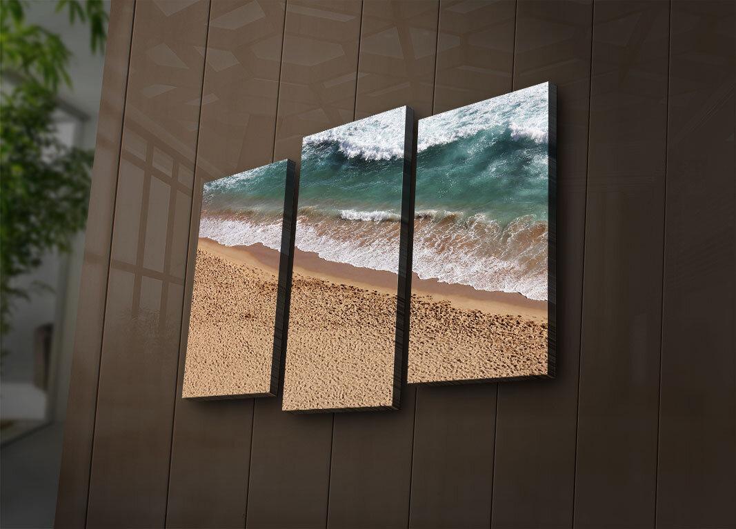 Tablou decorativ canvas cu leduri (3 Piese)Ledda