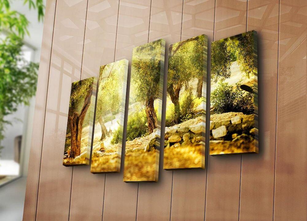 Tablou decorativ canvas (5 Piese) Bonanza, 242BNZ5241