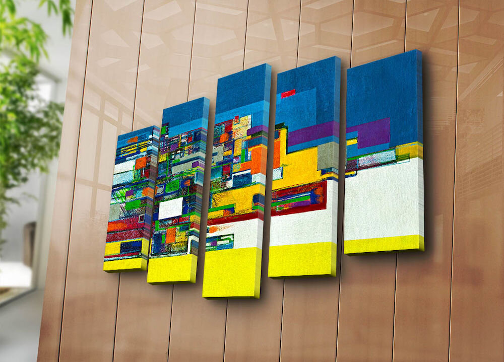 Tablou decorativ canvas (5 Piese)Canvart