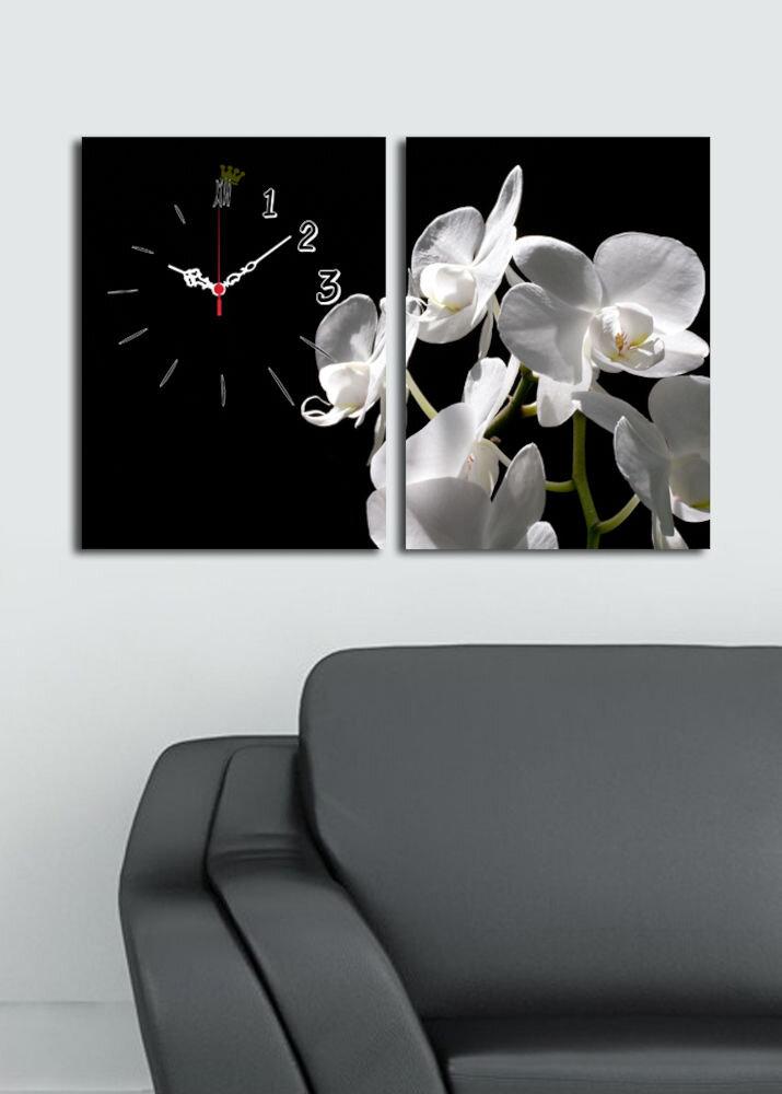 Tablou decorativ canvas cu ceas (2 Piese)Clock Art