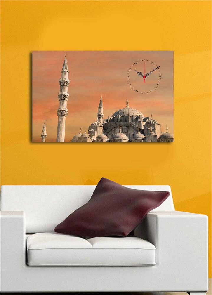 Tablou decorativ canvas cu ceas Clock Art