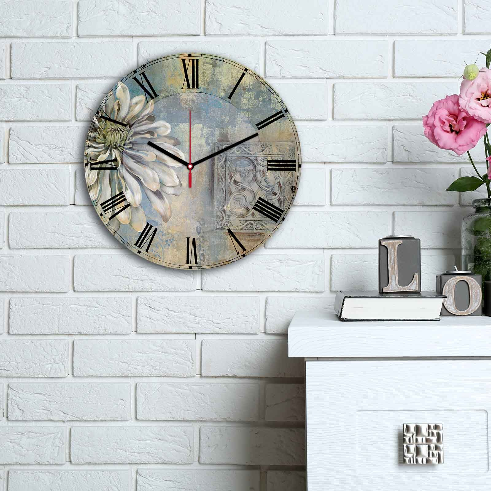 Ceas decorativ de perete din MDF Home Art