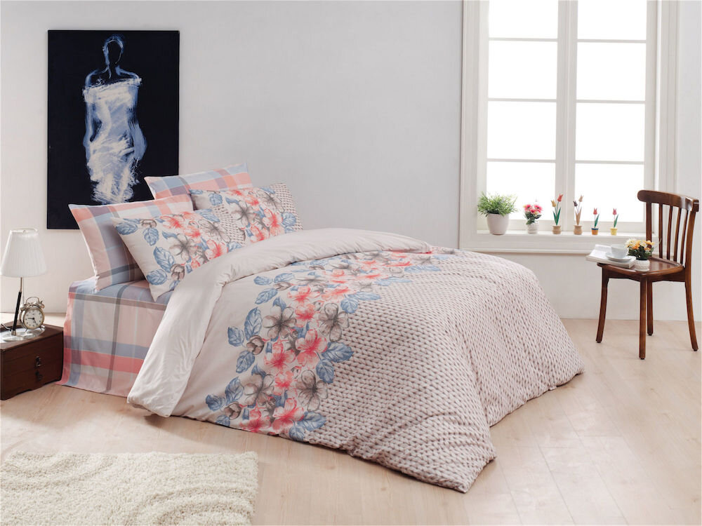 Lenjerie de pat, Majoli Bahar Home Collection, material: 100% bumbac, 110BHR2541