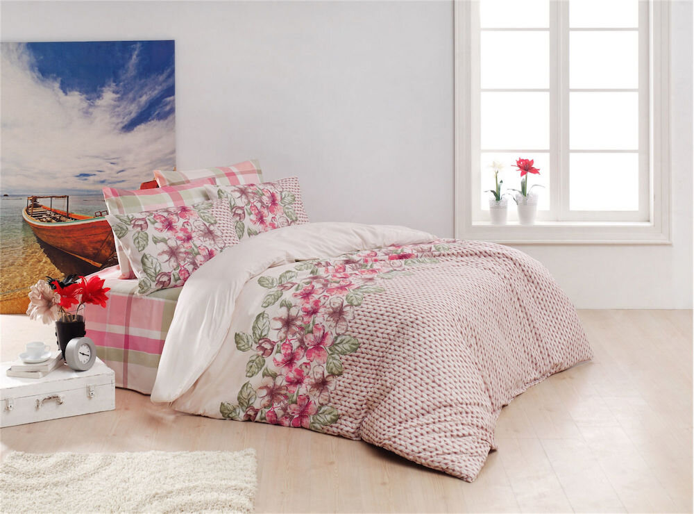 Lenjerie de pat, Majoli Bahar Home Collection, material: 100% bumbac, 110BHR2542