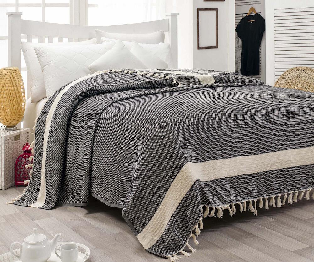 Cuvertura de pat, Eponj Home, material: 100% bumbac organic, 143EPJ9655