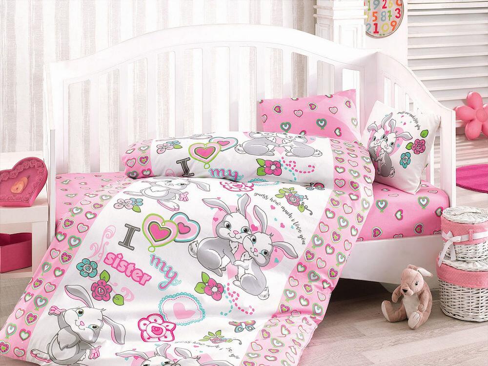 Lenjerie de pat pentru copii, Cotton Box, material: 100% bumbac, 129CTN2096