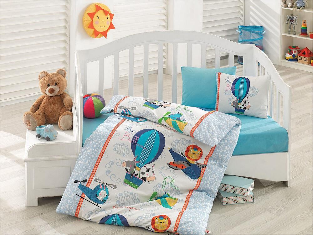 Lenjerie de pat pentru copii, Cotton Box, material: 100% bumbac, 129CTN2097