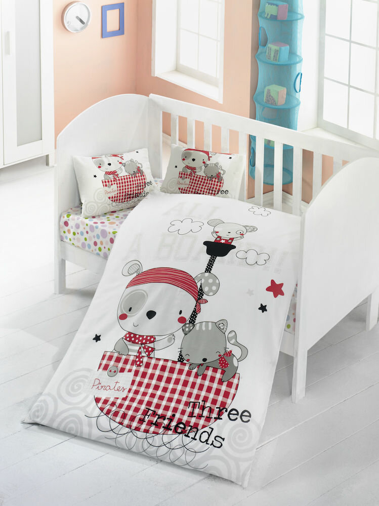 Lenjerie de pat pentru copii, Victoria, material: 100% bumbac, 121VCT2013