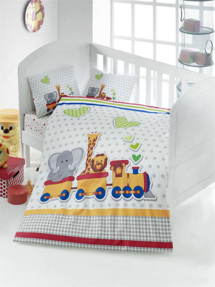 Lenjerie de pat pentru copii, Victoria, material: 100% bumbac, 121VCT2005
