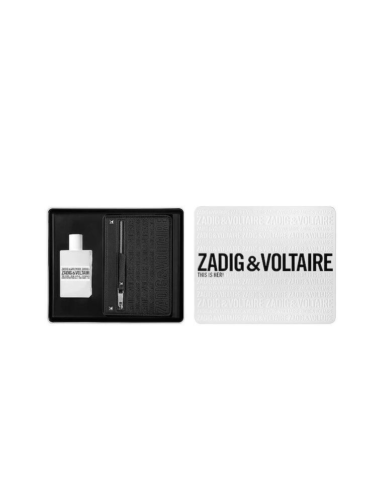 Set cadou Zadig et Voltaire This is Her ( Apa de parfum 50 ml + Gentuta), pentru femei
