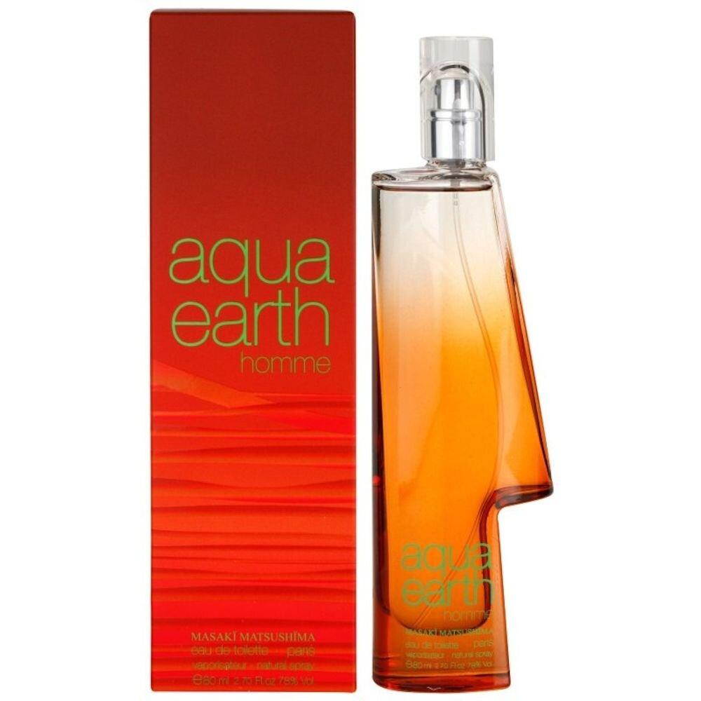 Apa de toaleta Aqua Earth, 80 ml, Pentru Barbati