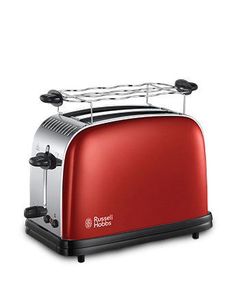 Prajitor de paine Russell Hobbs Colours Plus Flame Red 23330-56, 1670 W, Fante extra late