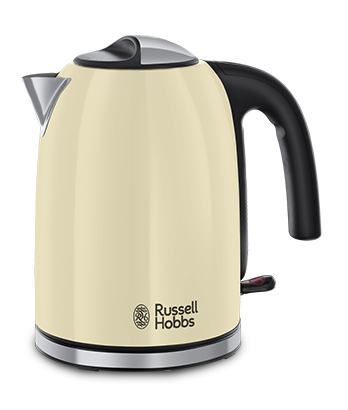 Fierbator Russell Hobbs Colours Plus Classic Cream 20415-70, 2400 W, 1.7 l, Fierbere rapida, Varf turnare perfecta