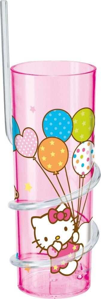 Pahar cu pai Disney, 64278, 325 ml, Melamina, roz