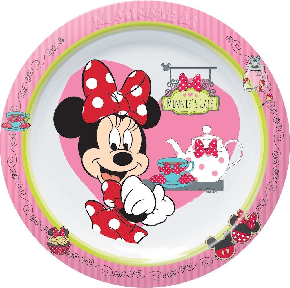 Farfurie intinsa Disney, 64244, 22 cm, Melamina, roz