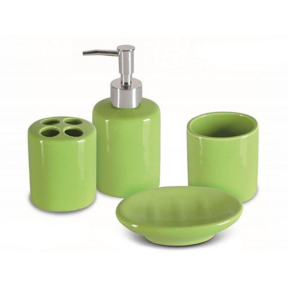 Set accesorii de baie Jotta, 93848, 4 piese, verde