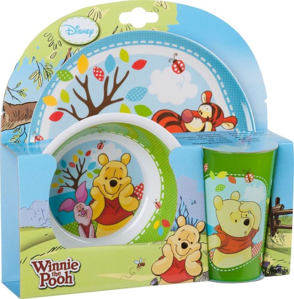 Set 3 piese Disney, 96196, Melamina, Winnie The Pooh Wood, verde