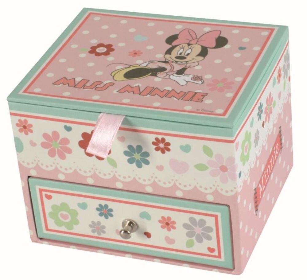 Caseta de bijuteri Disney, 93569, 11X9.5X8.6 cm, Minnie Sweet, roz