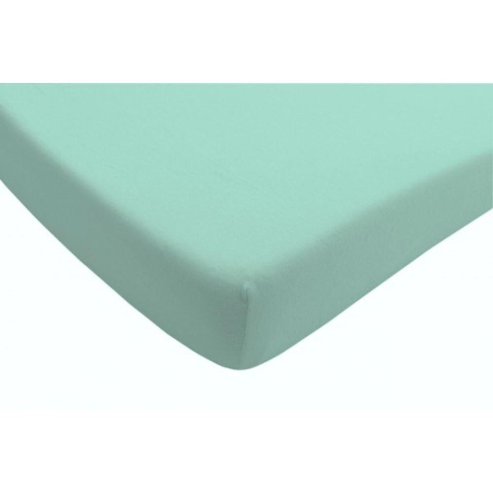 Cearsaf albastru pentru pat 75x150 cm Jollein, 511-527-00011, 100% bumbac organic