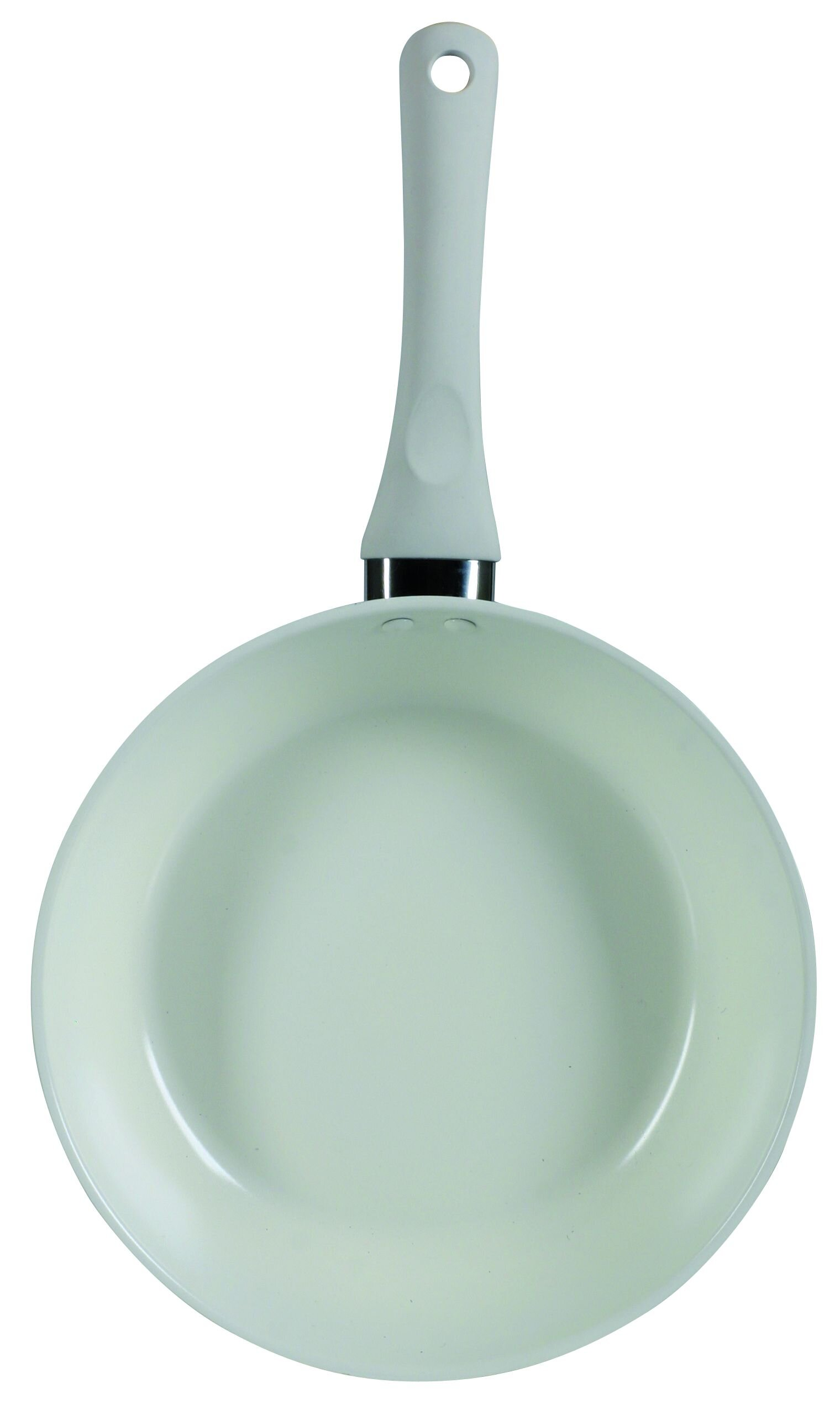 Tigaie din otel inoxidabil cu invelis ceramic Ambition, 34250, 24 Cm, Bianca, Bej