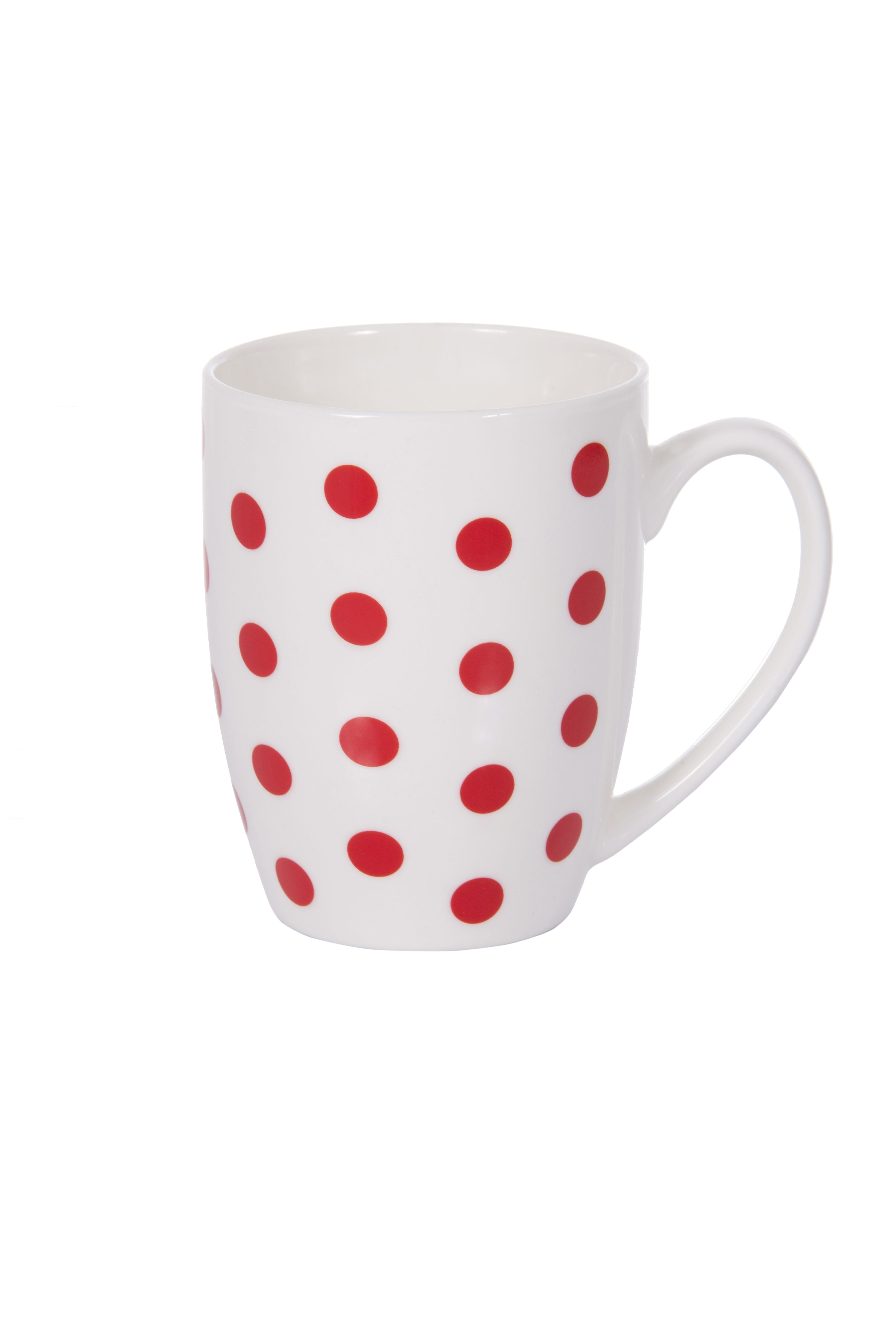 Cana nbc Ambition, 39909, 380ml, Red Dots, Alb