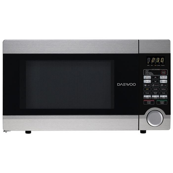 Cuptor microunde digital Daewoo, KQG-1N4A, 31 litri, putere 1000W, grill 1050W, Argintiu
