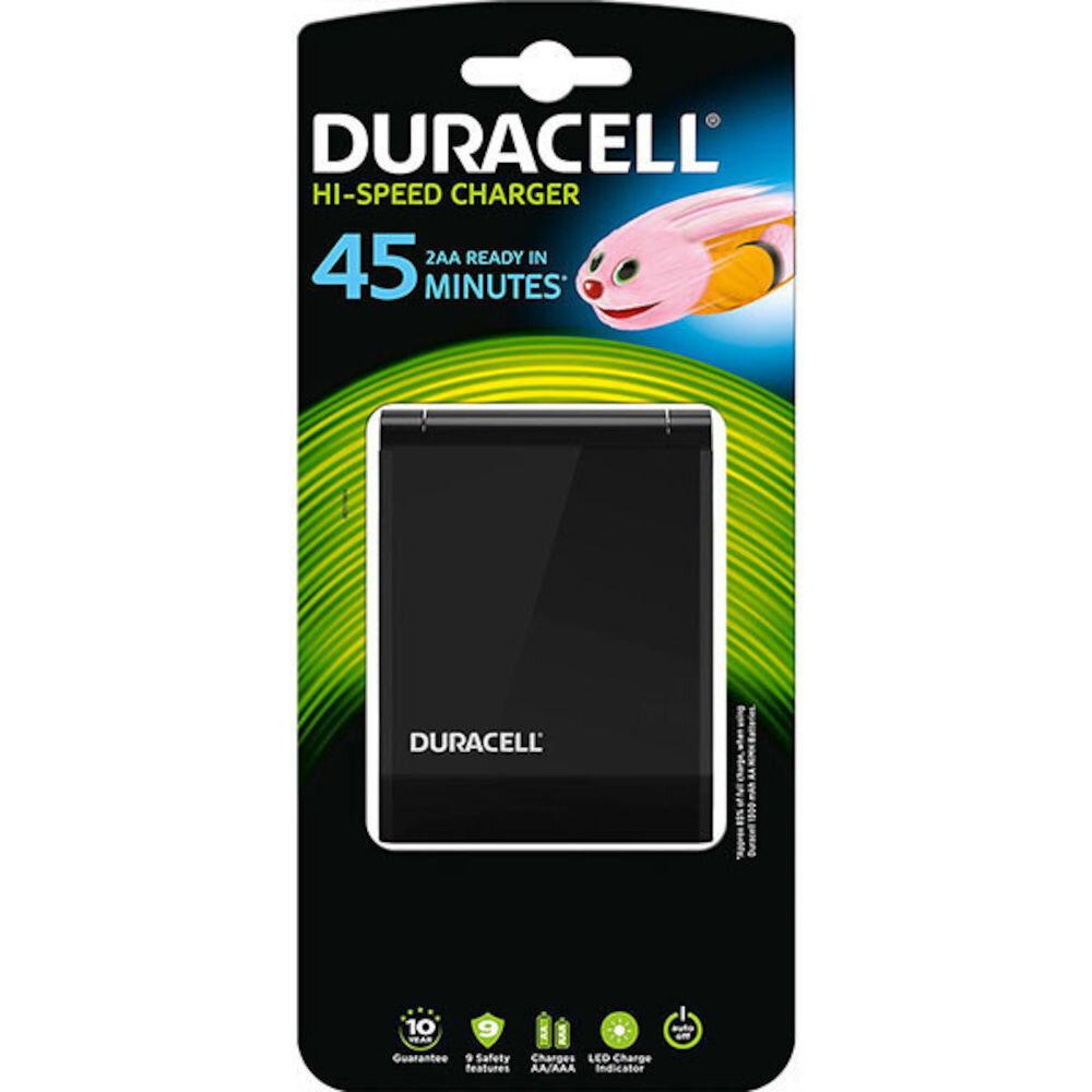 Incarcator Duracell CEF27, 81546852, 4 acumulatori AA 1300mAh, negru title=Incarcator Duracell CEF27, 81546852, 4 acumulatori AA 1300mAh, negru