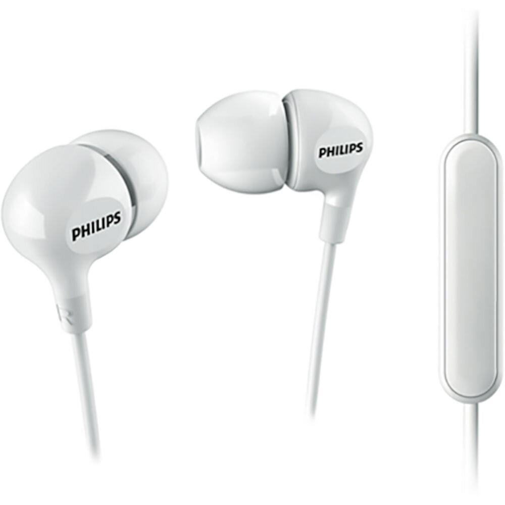 Casti in-ear Philips SHE3555WT/00, Jack 3.5 mm, Alb