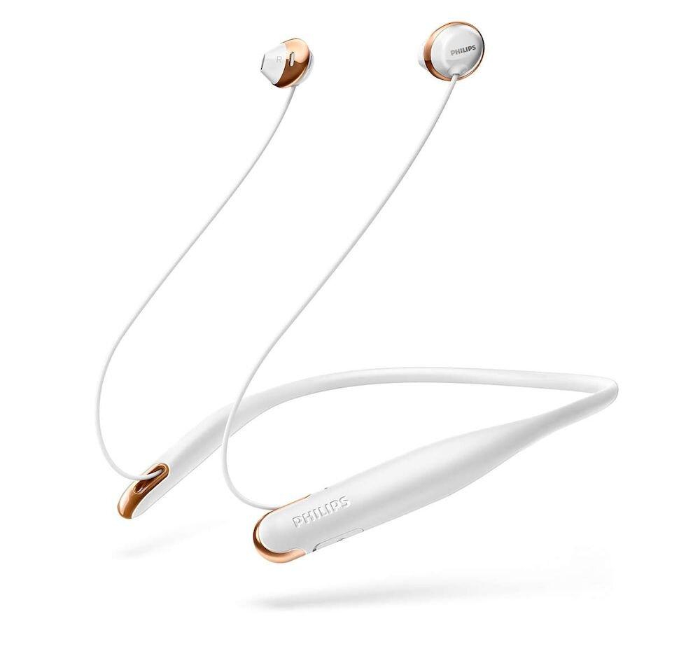 Casti wireless cu Bluetooth Philips Flite SHB4205WT/00, Alb
