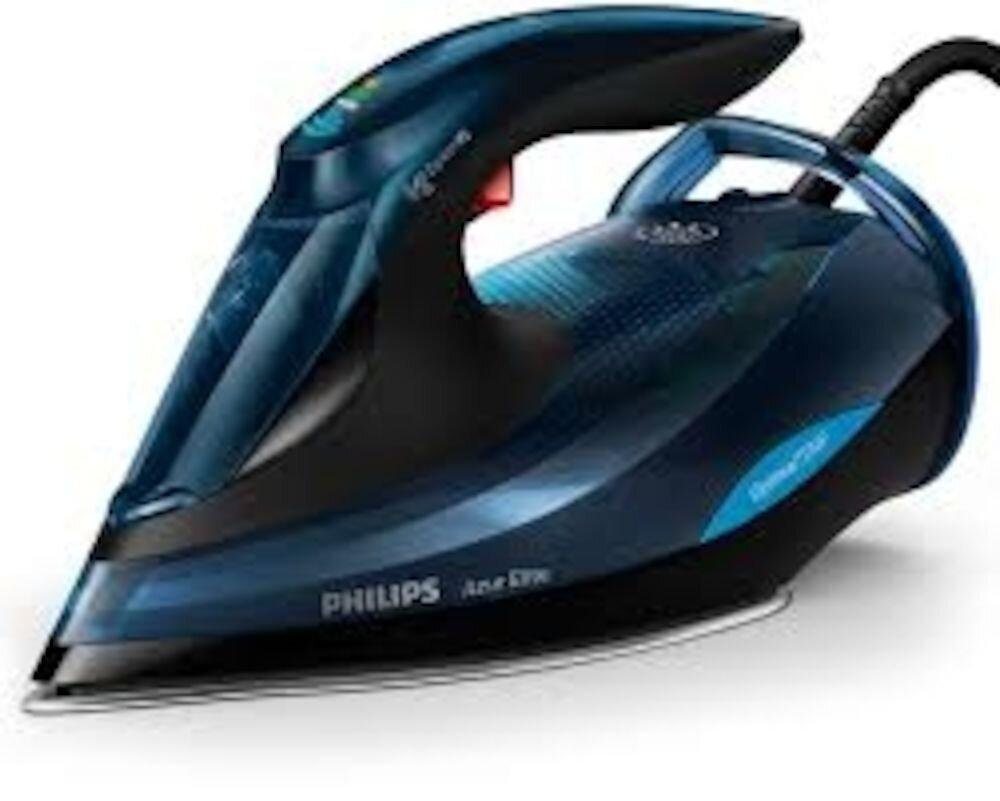 Fier de calcat cu abur cu tehnologie OptimalTEMP Philips Azur Elite GC5034/20, 3000W, albastru