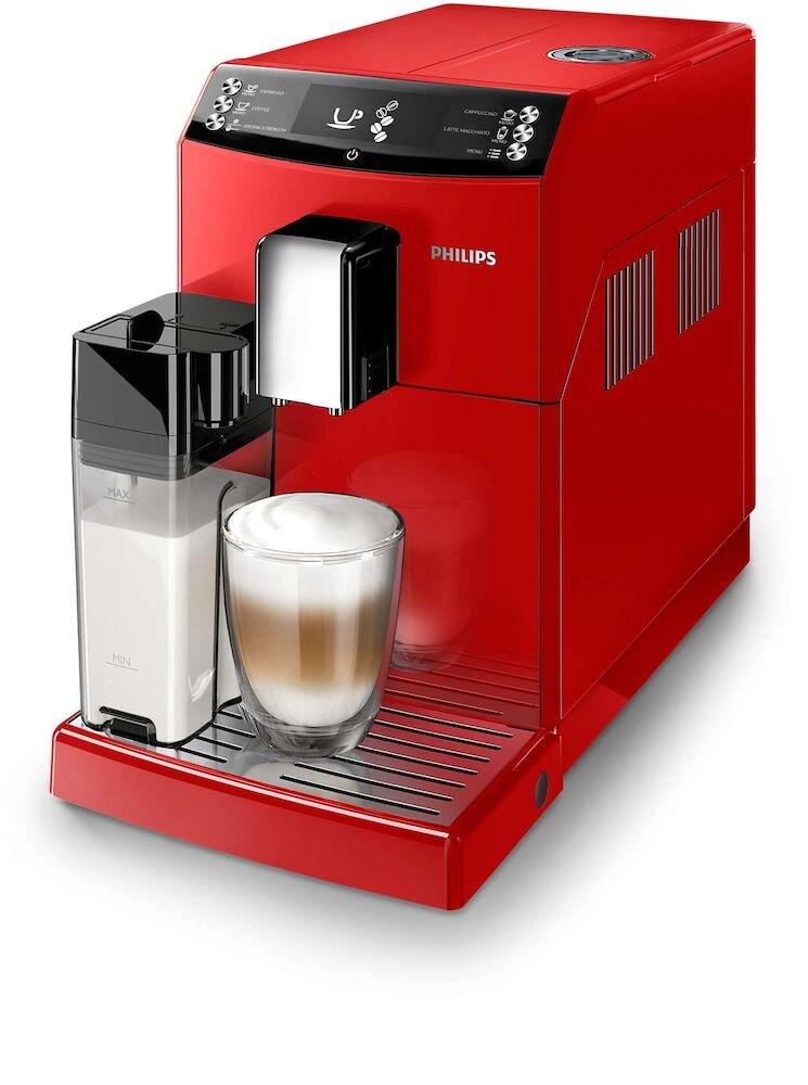 Espressor super automat Philips 3100 series EP3363/10, 6 bauturi, rosu