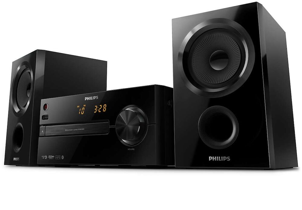 Microsistem Philips BTM1560/12, Bluetooth, USB, negru