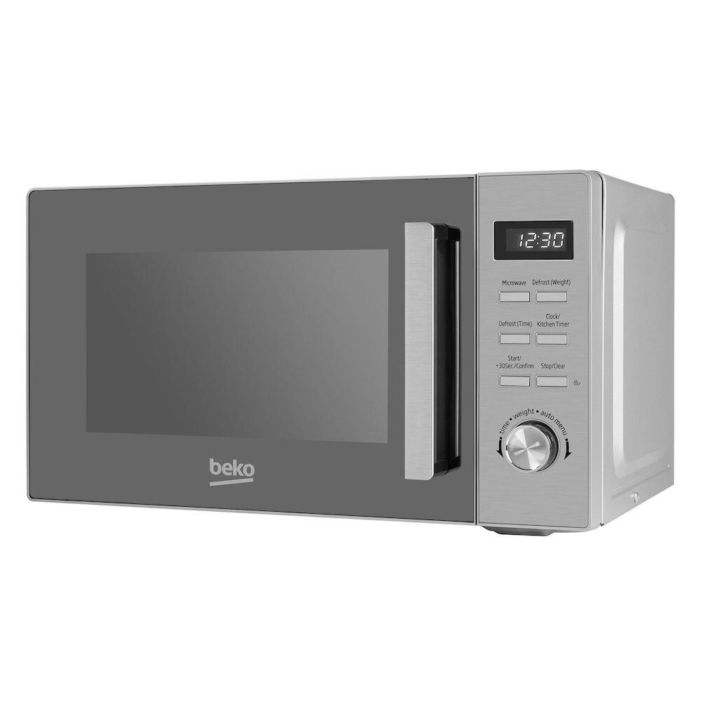 Cuptor cu microunde Beko MOF20110X, 800 W, 20 L, Electronic, Timer, Argintiu
