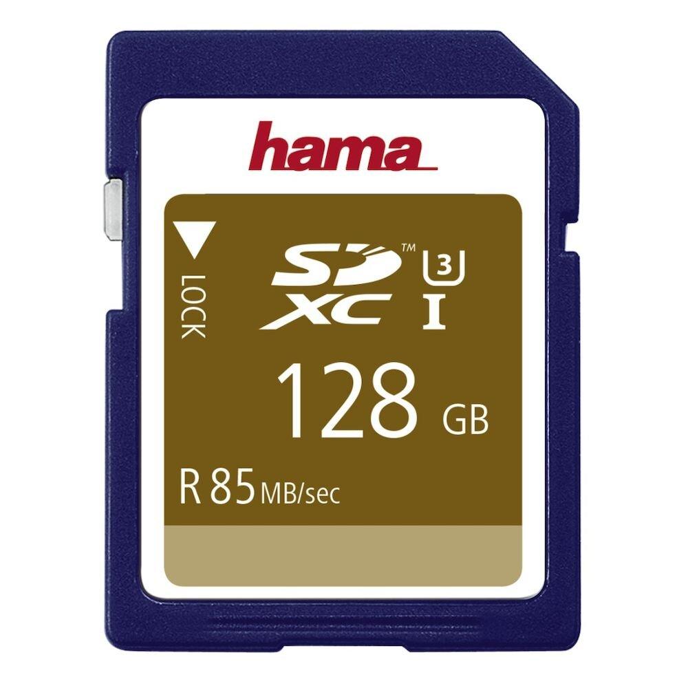 Card SDXC Hama, 114950, 128 Gb, albastru