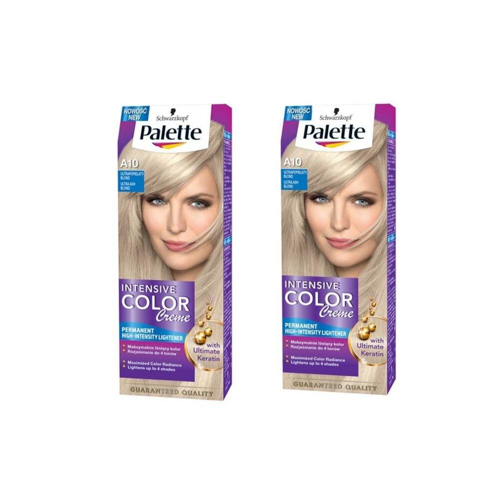 Set promo 2 x Vopsea de par Intensive Color Creme, nuanta Blond Ultra Cenusiu A10