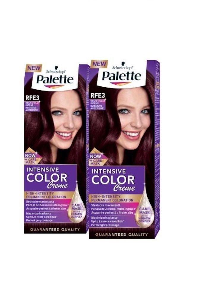 Set promo 2 x Vopsea de par Intensive Color Creme, nuanta Brun Violet RFE3 110 ml