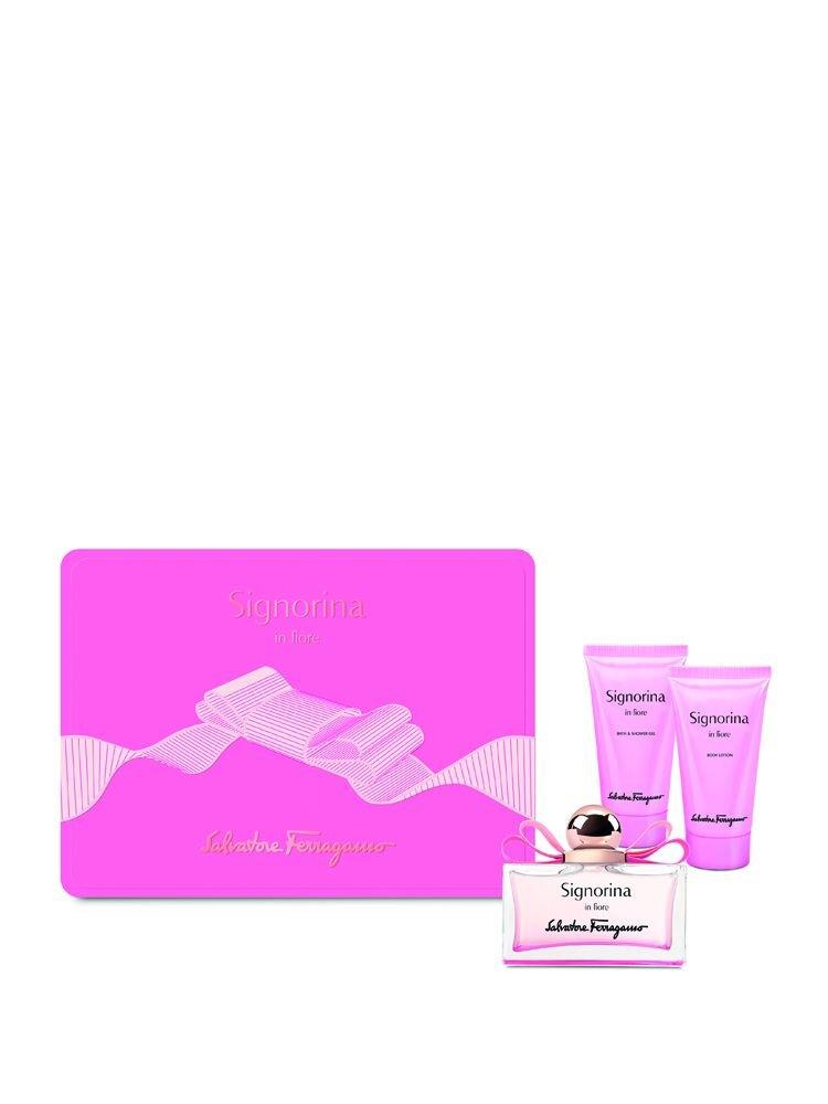 Set cadou Signorina in Fiore (100ml apa de toaleta, 50ml crema de corp si 50ml gel de dus), Pentru Femei