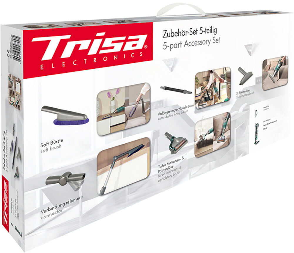 Set 5 accesorii pentru aspiratoare Trisa Luxury Box 9478.98 compasibile cu aspiratorul Trisa Quick Clean Professional