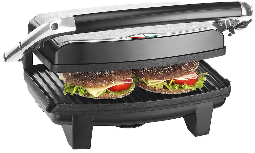 Grill electric Trisa Classic Grill 7346.75, Putere 1000W, 2 suprafete pentru gatit nonaderente