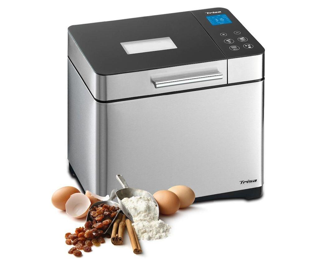Masina de paine Trisa Gourmet 7725.75, 710W, 1000g, 19 programe, LCD, Panou touch, Inox