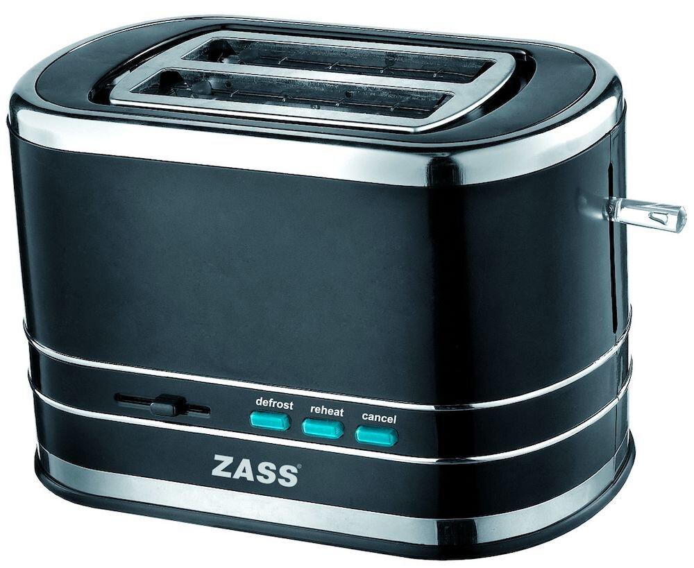 Prajitor de paine Zass ZST 04, 800W, 2 felii, Negru
