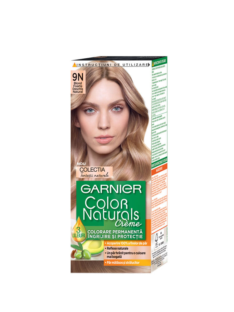Vopsea de par permanenta cu amoniac Color Naturals 9N Blond Foarte Deschis Natural - Colectia Tentatii Naturale