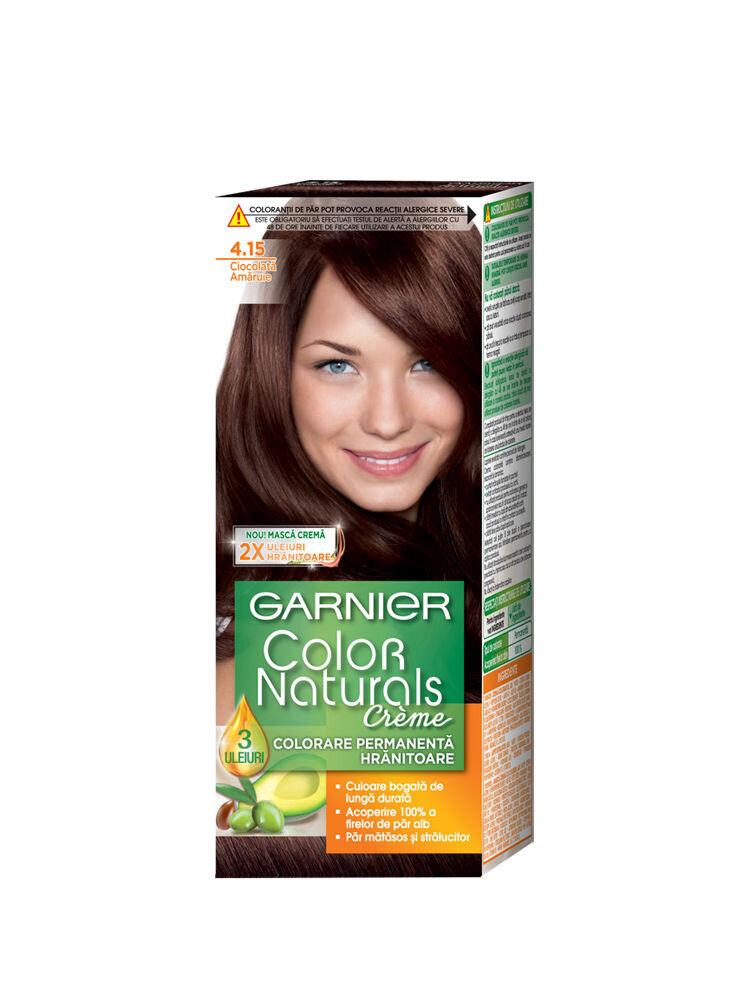 Vopsea de par permanenta cu amoniac Garnier Color Naturals 4.15 Ciocolata Amaruie