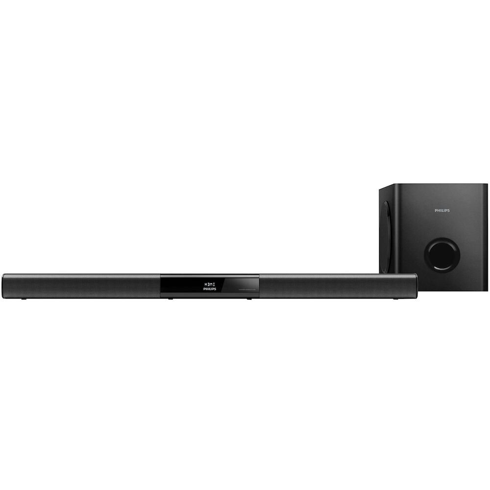 Soundbar Philips, HTL3110B/12, 2.1, subwoofer wireless, 120W, bluetooth, nfc, Negru