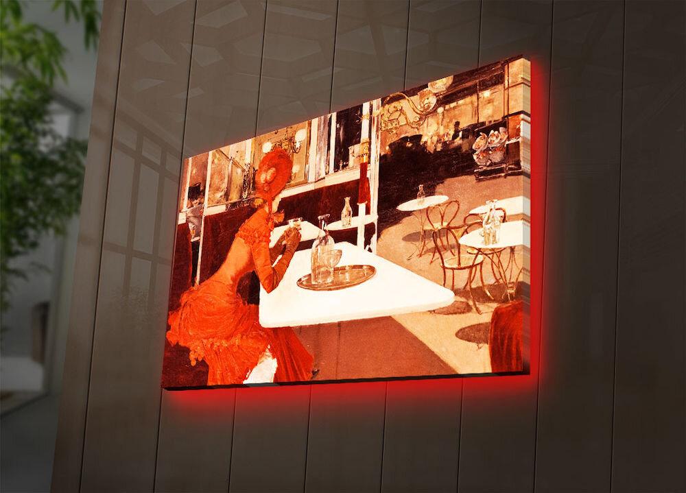 Tablou pe panza iluminat Ledda, 254LED3293, 45 x 70 cm, panza