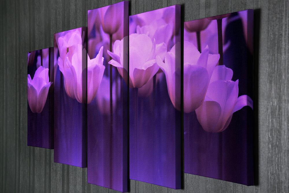 Tablou decorativ pe panza Majestic, 257MJS3206, 5 Piese, panza